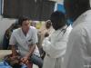 Consultation avec étudiants en médecine