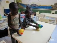 Travail de motricité avec les enfants de kiné