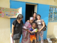 Le jour du départ, M-Hélène, Fati, Ider, Véronique, Sylvie
