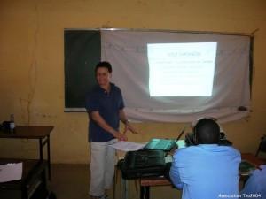 Cours à l'ENSP de Niamey