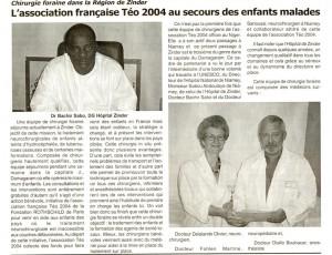 l'Union - octobre 07 - Niamey