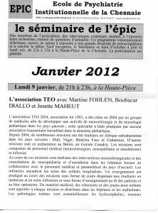 Séminaire de l'EPIC - 9 janvier 2012 p.1
